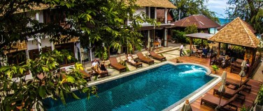 accommodatie poolside Koh Tao Thailand Sairee Cottage Diving